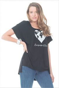 graphic tee - Socially Conscious Women's Clothing - languageofloves.com